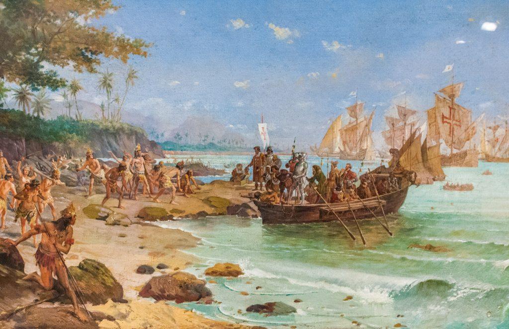 Pedro Álvares Cabral e suas caravelas chegaram à Bahia em 22 de abril de 1500.