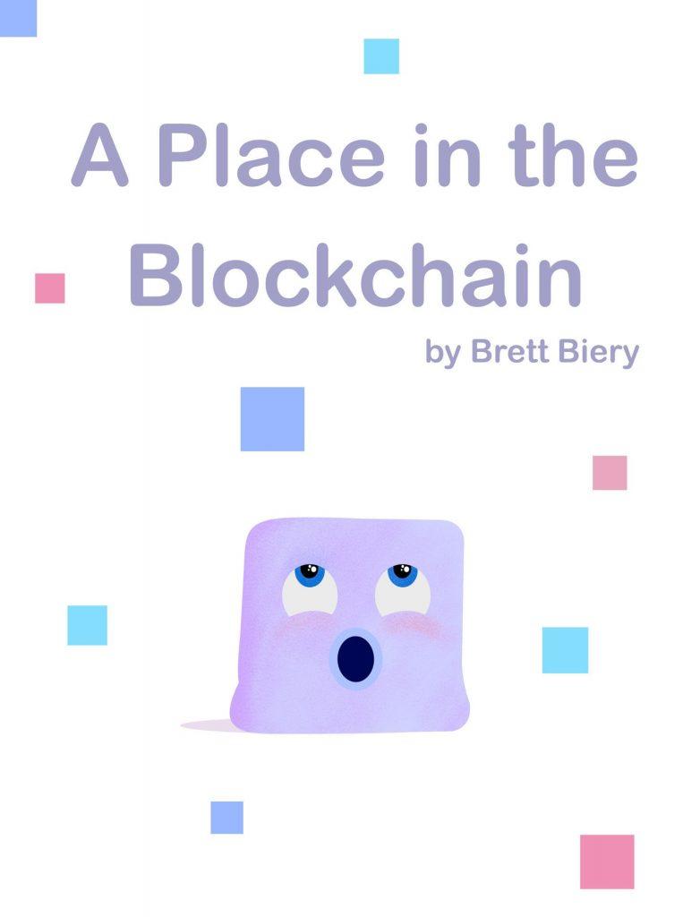 O livro narra a história de Blocky, um pequeno cubo que enfrenta muitas dificuldades para encontrar seu lugar no blockchain.
