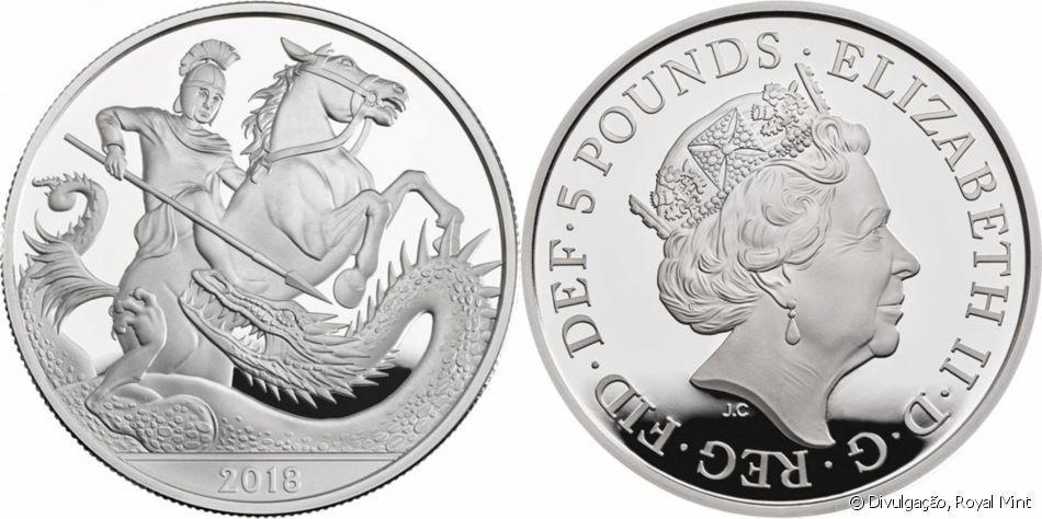 Foram produzidas 7.000 moedas de prata com o valor de £5. Coleção é uma homenagem ao aniversário de 5 anos do Príncipe George.