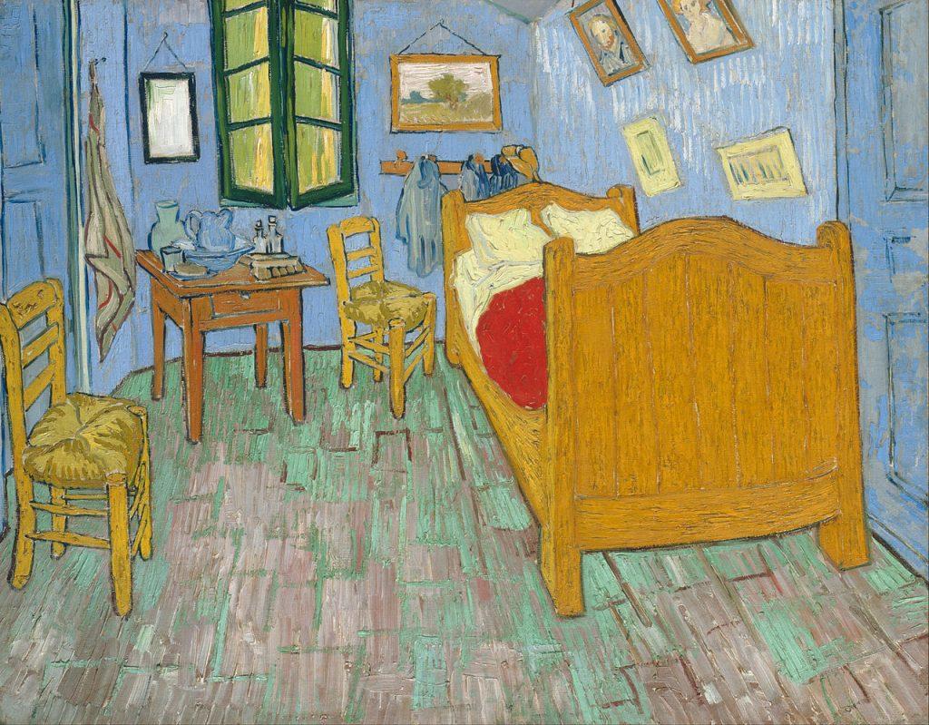 Entre as obras contidas no acervo do museu de Chicago estão O Quarto, de Vincent van Gogh.