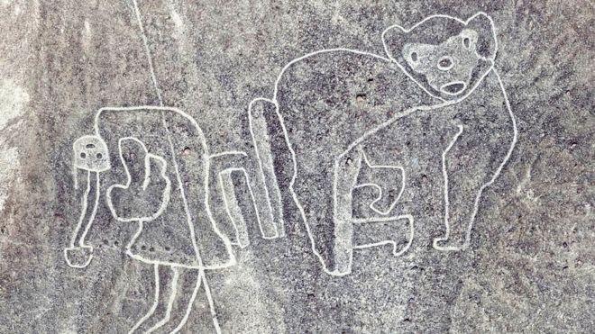 As Linhas de Nazca descobertas recentemente têm formatos diferentes dos geométricas ou lineares.