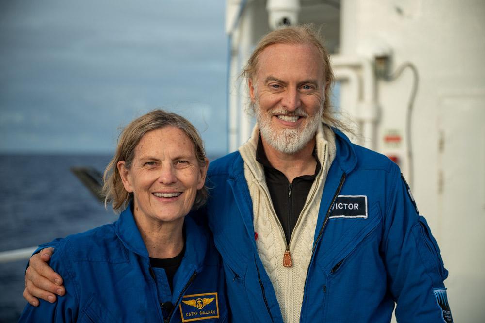 Ela foi acompanhada pelo explorador Victor Vescovo, que financiou a missão e capturou imagens. A descida até a Challenger Deep, como é conhecido o ponto mais baixo da Terra, foi realizada em um submarino de profundidade especialmente projetado para a iniciativa, chamado de Limiting Factor. Kathryn desceu 35.810 pés, aproximadamente 11 mil metros de profundidade, e a viagem de volta para a superfície teve 4 horas de duração. O feito foi divulgado no dia seguinte, 8 de junho, em comunicado no site da EYOS Expeditions, empresa que coordenou a missão.