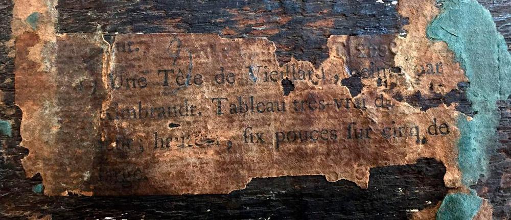 O pequeno quadro, então, ficou guardado no porão do museu Ashmolean até pouco tempo atrás, quando uma exposição com obras de Rembrandt foi planejada. Os curadores do museu encontraram a obra e enviaram-na a um dendrocronologista, profissional que data a idade de uma árvore a partir de seus anéis característicos, para análise.